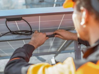 Chief Electricians Melbourne Solar System Maintenance inspection Testing Service Company checking wiring